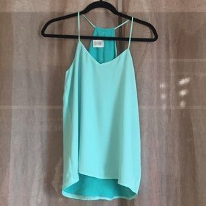 Mint color and teal green reversible cami